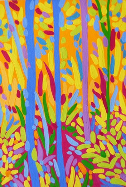 Sandra-ASuarez-Naturaleza---Naranja-y-rosa-20-x-29,5-cm-gouache-sobre-papel