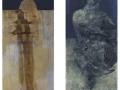 Sin título Oleo sobre Lienzo 168x58 cm. Séneca Oleo sobre lienzo 168x58 cm.