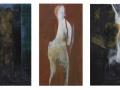 Kronos, Vulcano, Hades Oleo sobre tabla 150x80 cm.