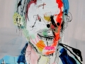 1Espiral_LopezDavis_Joven_con_gafas_de_sol_Acrylique_encre_papier_50x70cm