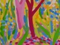 Atardecer-rosa-y-amarillo-en-el-bosque-20-x-29,5-cm-Gouache-sobre-papel